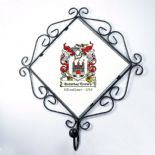Coat Hook Family Crest / Coat of Arms Wall Plaque PERSONALISED, ref FCCH